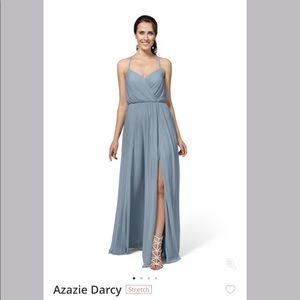 Azazie Darcy Dress in Dusty Blue size A8
